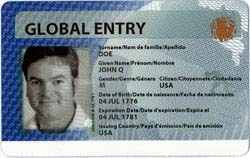 Global Entry Card Program Us Immigration Passport Visa